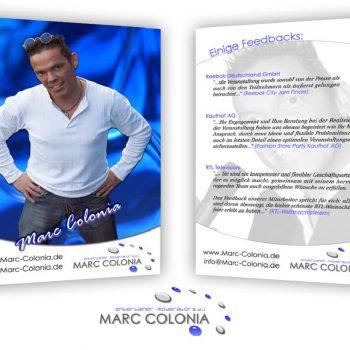 Marc Colonia DJ Autogrammkarte letzter Entwurf
